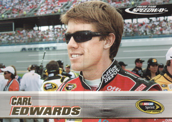 2008 Press Pass Speedway Gold #G22 Carl Edwards