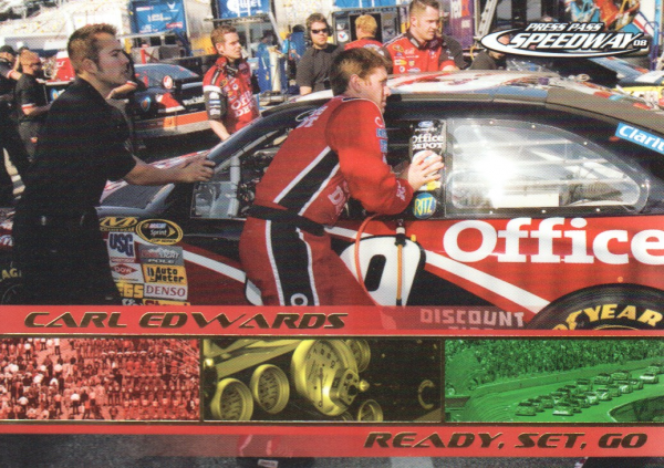 2008 Press Pass Speedway Gold #G79 Carl Edwards's Car RSG