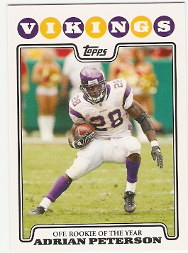 2008 Topps #329 Adrian Peterson OROY