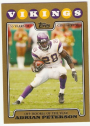 2008 Topps Gold Border #329 Adrian Peterson OROY