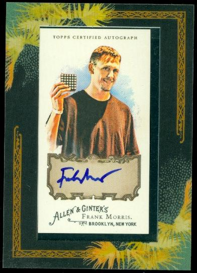 2008 Topps Allen and Ginter Autographs #FM Frank Morris A/190 *