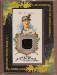 2008 Topps Allen and Ginter Relics #TT Troy Tulowitzki Jsy C