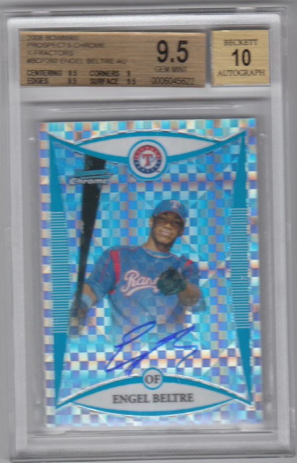 2008 Bowman Chrome Prospects X-Fractors #BCP260 Engel Beltre AU