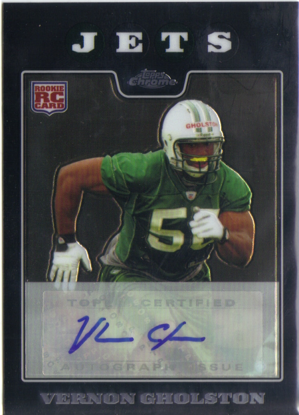 2008 Topps Chrome Rookie Autographs #TC237 Vernon Gholston B