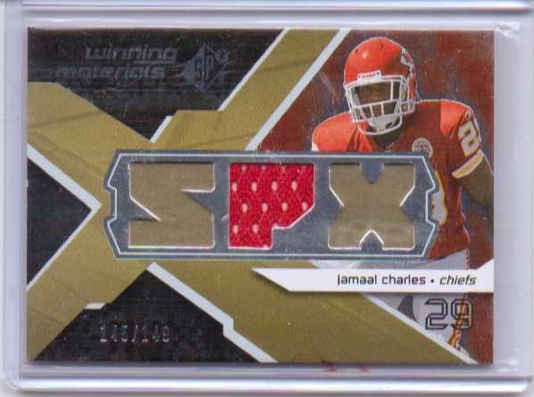 2008 SPx Winning Materials SPX 149 #WMJC Jamaal Charles
