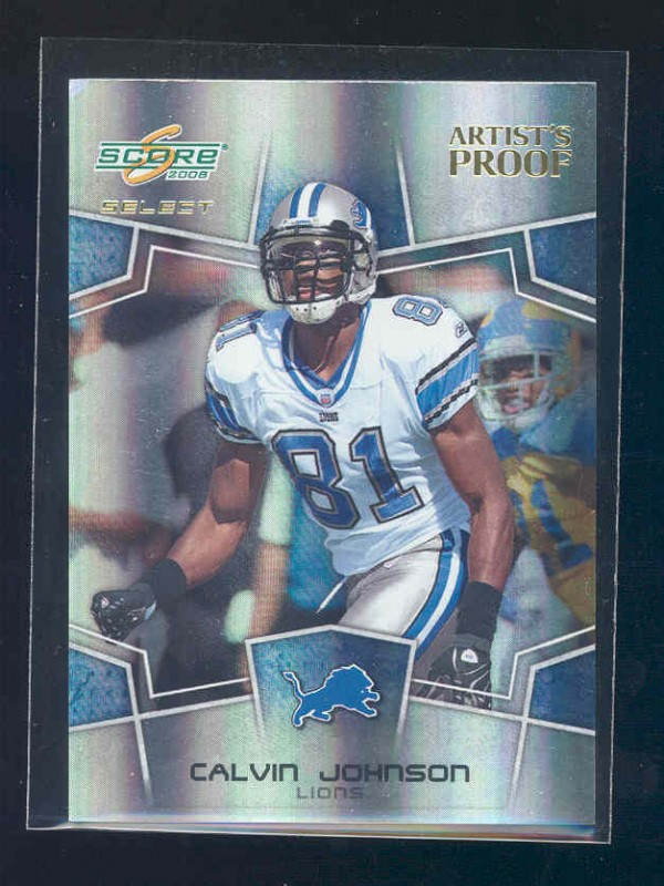 2008 Select Young Stars Artist's Proof #5 Calvin Johnson