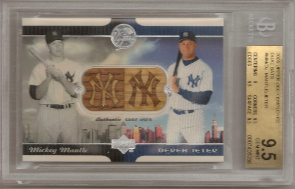 2005 Upper Deck Employee Dual Bats #MM/DJ Mickey Mantle/Derek Jeter