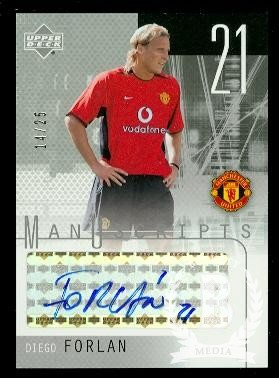 2003 Upper Deck Manchester United ManUscripts Black #DF Diego Forlan