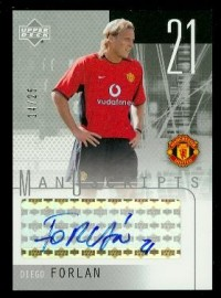 2003 Upper Deck Manchester United ManUscripts Black #DF Diego Forlan front image