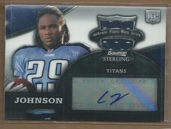 2008 Bowman Sterling #156B Chris Johnson JSY AU