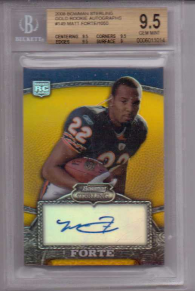2008 Bowman Sterling Gold Rookie Autographs #149 Matt Forte/1050