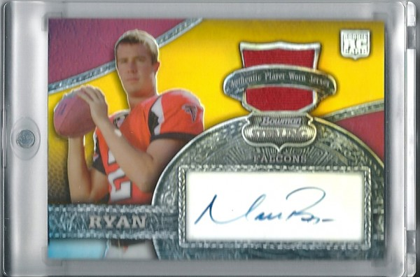 2008 Bowman Sterling Gold Relic Autographs #146 Matt Ryan/20