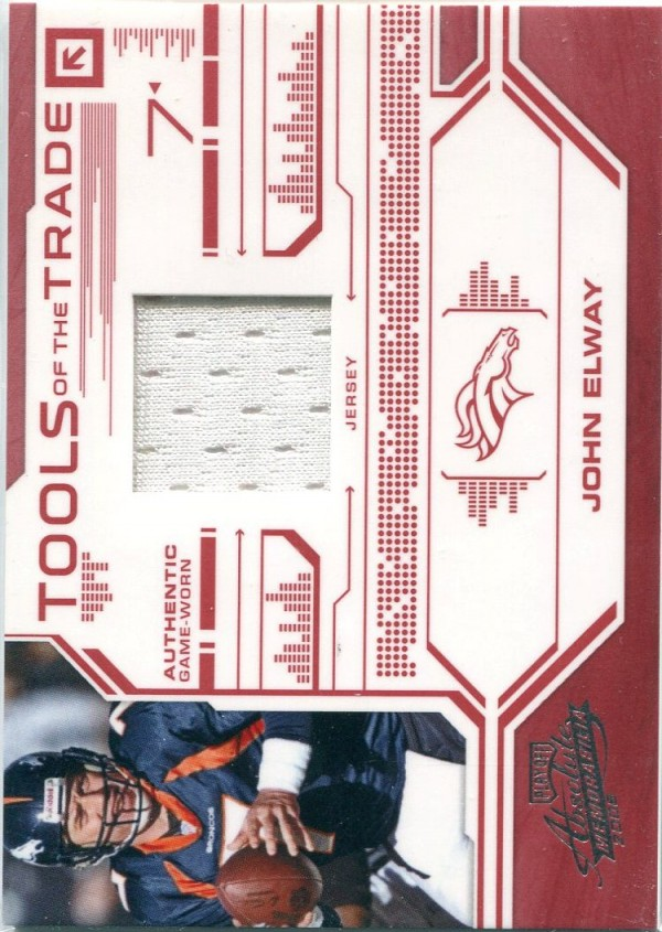 2008 Absolute Memorabilia Tools of the Trade Material Red #19 John Elway