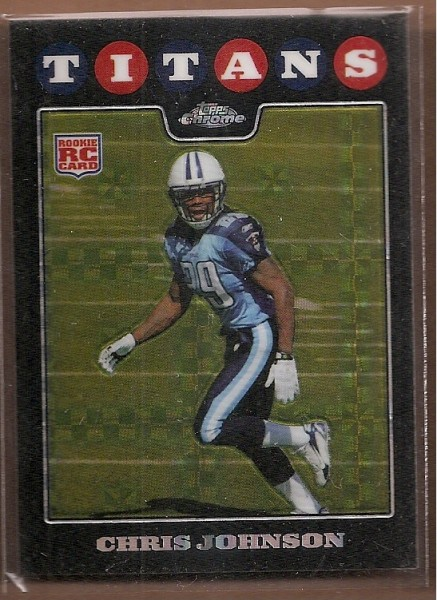 2008 Topps Chrome Xfractors #TC186 Chris Johnson
