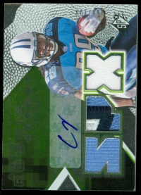 2008 SPx Green Holofoil Rookies #153 Chris Johnson JSY AU