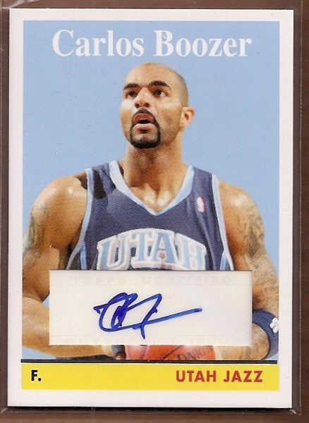 2008-09 Topps 1958-59 Variations Autographs #8 Carlos Boozer C