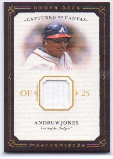 2008 UD Masterpieces Captured on Canvas #AJ Andruw Jones