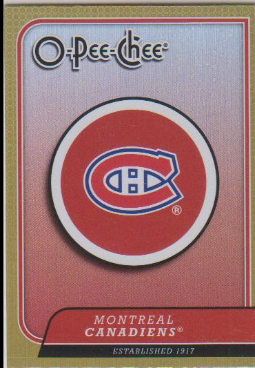 2008-09 O-Pee-Chee Team Checklists #CL16 Montreal Canadiens