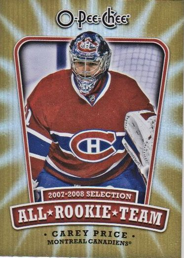 2008-09 O-Pee-Chee All-Rookie Team #ARTCP Carey Price