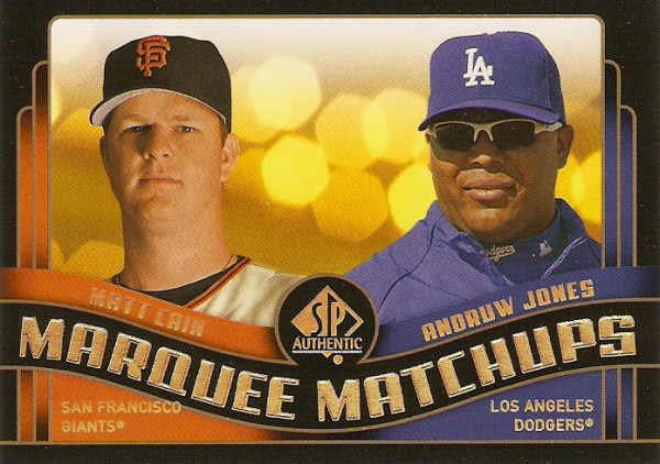 2008 SP Authentic Marquee Matchups #MM26 Matt Cain/Andruw Jones