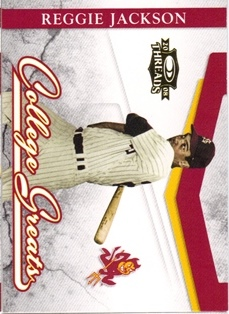 2008 Donruss Threads College Greats #2 Reggie Jackson