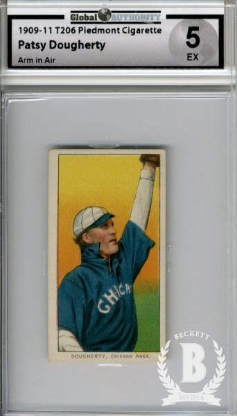 1909-11 T206 #142 Patsy Dougherty Arm in Air