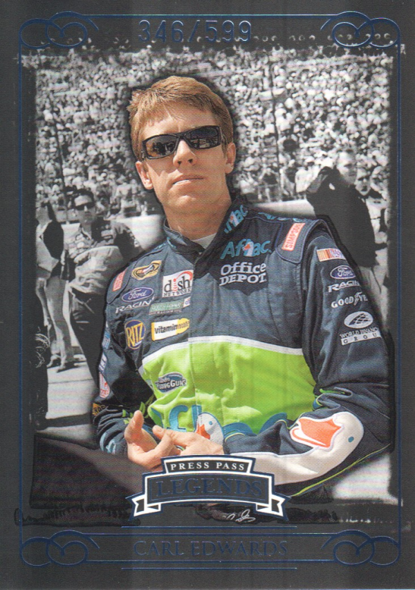 2008 Press Pass Legends Blue #48 Carl Edwards