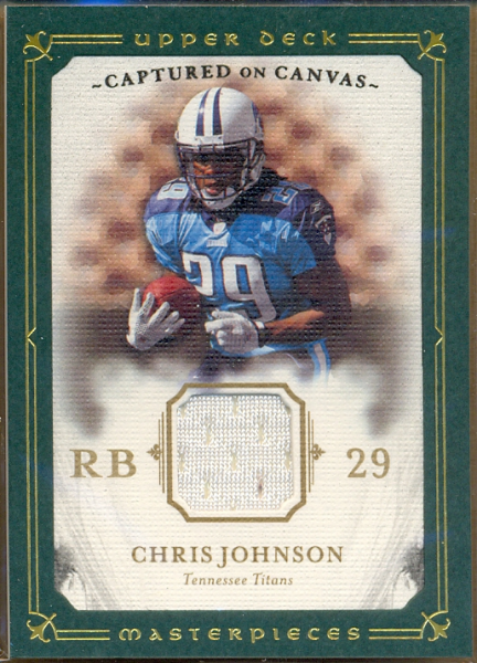 2008 UD Masterpieces Captured on Canvas Jerseys #CC10 Chris Johnson