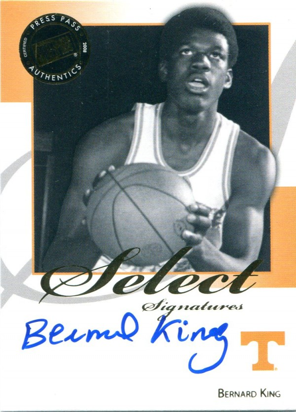 2008-09 Press Pass Legends Select Signatures #BK Bernard King