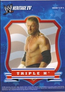 2008 Topps Heritage IV WWE Magnets #6 Triple H