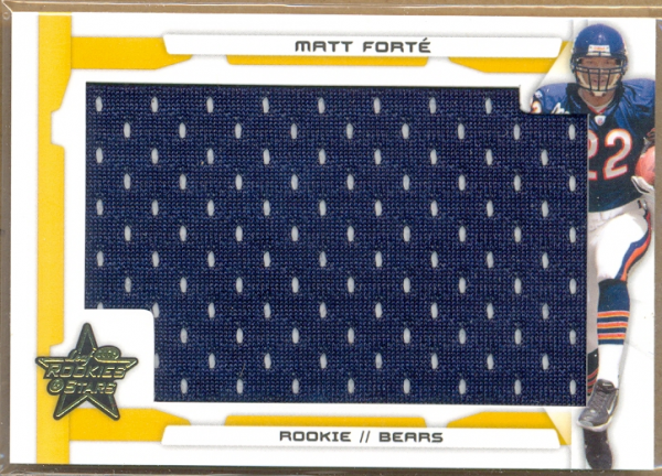 2008 Leaf Rookies and Stars Rookie Jersey Jumbo Swatch Gold #244 Matt Forte