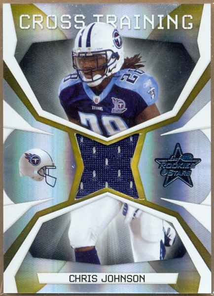 2008 Leaf Rookies and Stars Crosstraining Materials #4 Chris Johnson