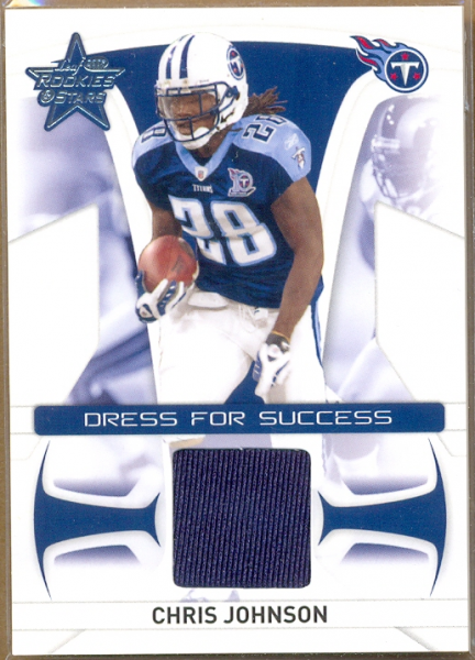 2008 Leaf Rookies and Stars Dress for Success Jerseys #22 Chris Johnson