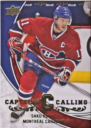 2008-09 Upper Deck Captains Calling #CPT5 Saku Koivu