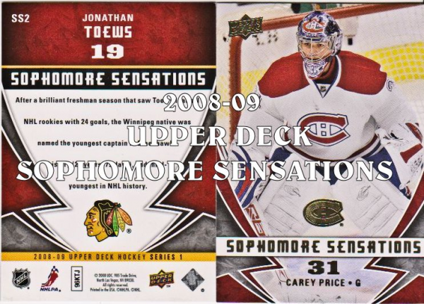 2008-09 Upper Deck Sophomore Sensations #SS3 Carey Price