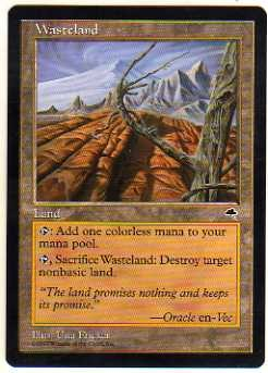 1997 Magic the Gathering Tempest #324 Wasteland U :L: