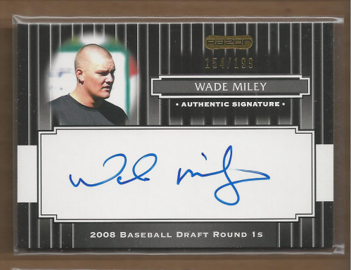 2008 Razor Signature Series Black #145 Wade Miley AU