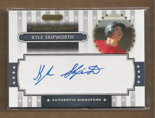 2008 Razor Signature Series Exclusives Autographs #ES05 Kyle Skipworth