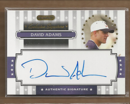 2008 Razor Signature Series Exclusives Autographs #ES18 David Adams