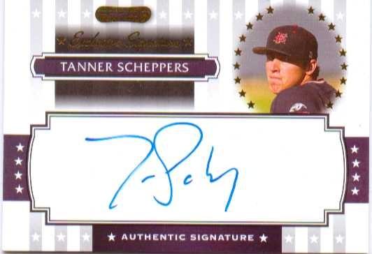 2008 Razor Signature Series Exclusives Autographs #ES36 Tanner Scheppers