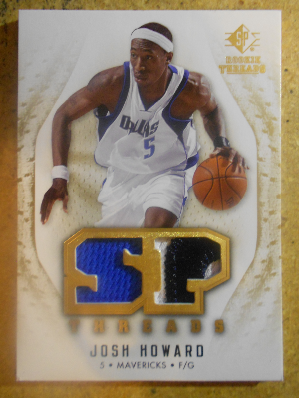2008-09 SP Rookie Threads SP Threads Patch #TJH Josh Howard
