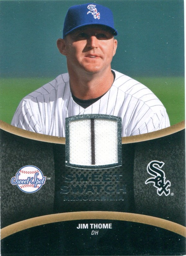 2008 Sweet Spot Swatches #SJT Jim Thome
