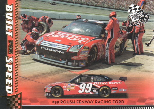 2009 Press Pass Gold #58 Carl Edwards' Car BFS