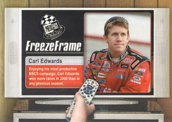 2009 Press Pass Freeze Frame #FF16 Carl Edwards