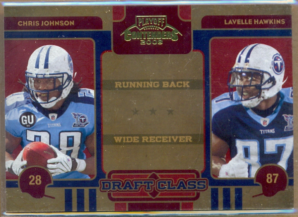 2008 Playoff Contenders Draft Class #33 Chris Johnson/Lavelle Hawkins