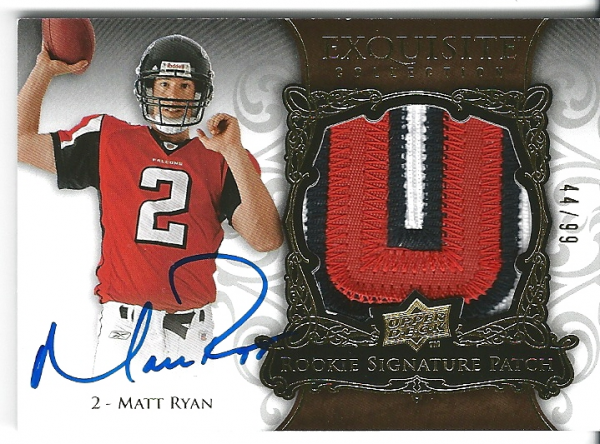 2008 Exquisite Collection #168 Matt Ryan JSY AU RC