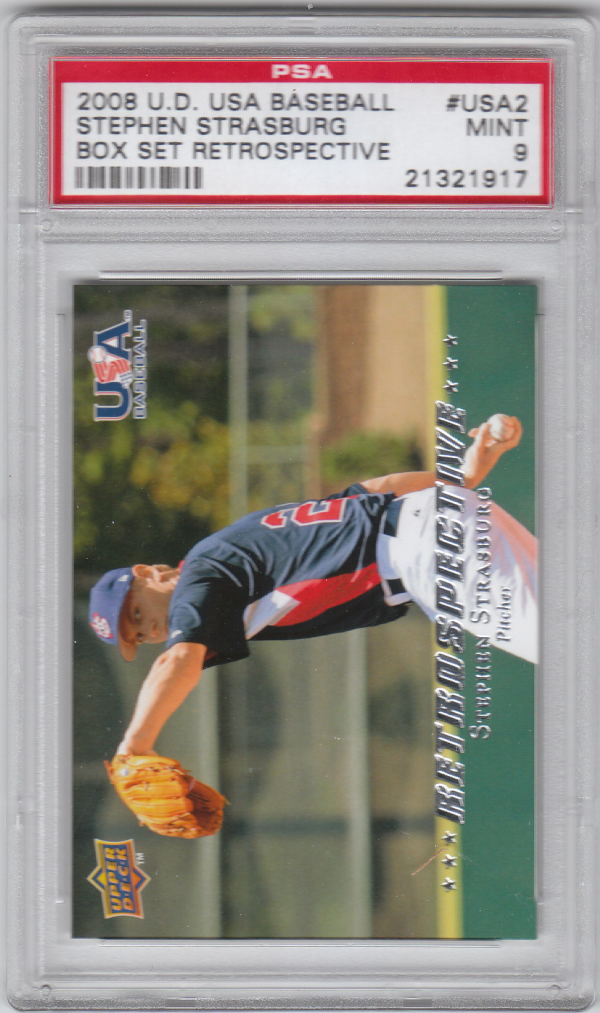 2008-09 USA Baseball National Team Retrospective #USA2 Stephen Strasburg