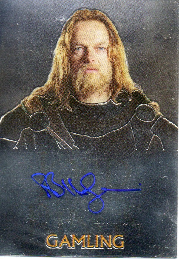 2004 Lord of the Rings Trilogy Chrome Autographs #NNO Bruce Hopkins