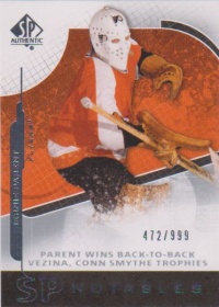 2008-09 SP Authentic #102 Bernie Parent N