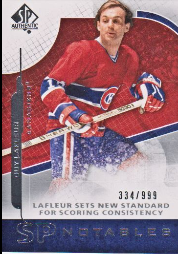 2008-09 SP Authentic #115 Guy Lafleur N